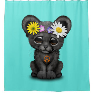Cute Black Panther Cub Hippie
