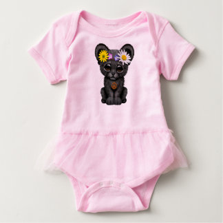 Cute Black Panther Cub Hippie Baby Bodysuit