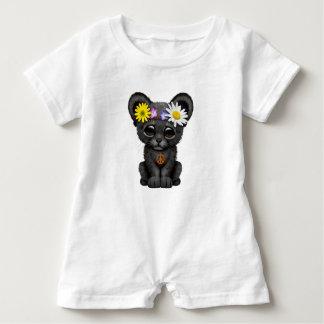 Cute Black Panther Cub Hippie Baby Romper