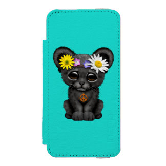 Cute Black Panther Cub Hippie Incipio Watson™ iPhone 5 Wallet Case