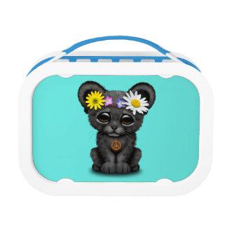 Cute Black Panther Cub Hippie Lunchbox