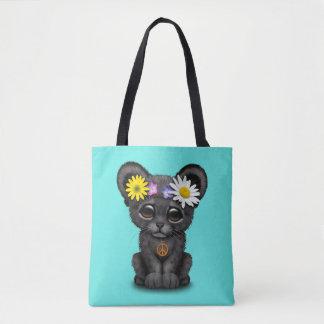 Cute Black Panther Cub Hippie Tote Bag