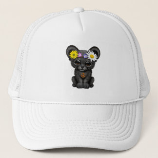 Cute Black Panther Cub Hippie Trucker Hat