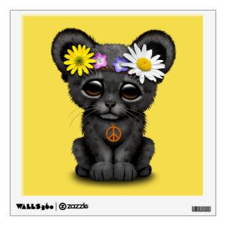 Cute Black Panther Cub Hippie Wall Sticker