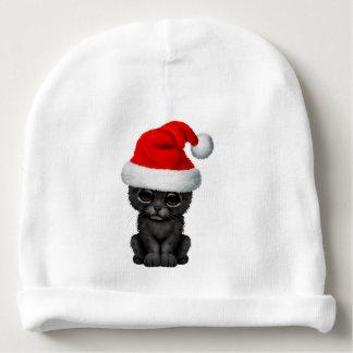 Cute Black Panther Cub Wearing a Santa Hat Baby Beanie