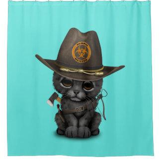 Cute Black Panther Cub Zombie Hunter