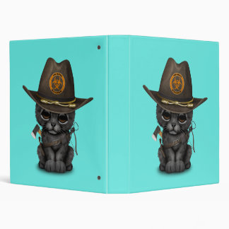 Cute Black Panther Cub Zombie Hunter Binder