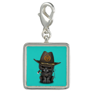 Cute Black Panther Cub Zombie Hunter Charm