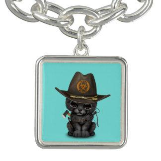 Cute Black Panther Cub Zombie Hunter Charm Bracelet