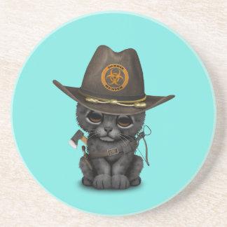 Cute Black Panther Cub Zombie Hunter Coaster