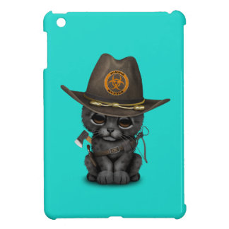 Cute Black Panther Cub Zombie Hunter Cover For The iPad Mini