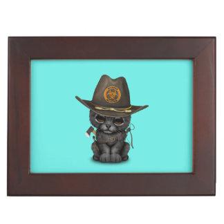 Cute Black Panther Cub Zombie Hunter Keepsake Box
