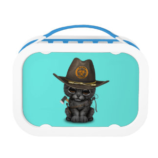 Cute Black Panther Cub Zombie Hunter Lunch Box