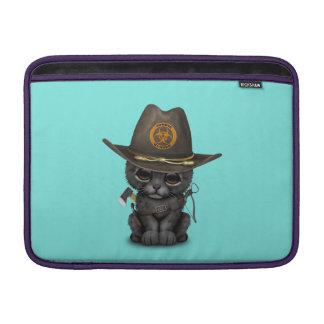 Cute Black Panther Cub Zombie Hunter MacBook Sleeve