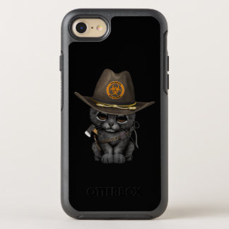 Cute Black Panther Cub Zombie Hunter OtterBox Symmetry iPhone 8/7 Case