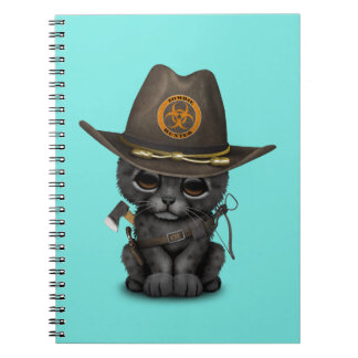 Cute Black Panther Cub Zombie Hunter Spiral Notebook