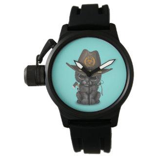 Cute Black Panther Cub Zombie Hunter Watch