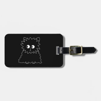 Cute Black Persian Cat. Luggage Tag
