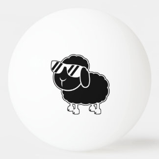 Cute Black Sheep Cartoon Ping Pong Ball