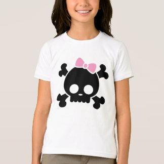 Cute Black Skull Girl's T-Shirt