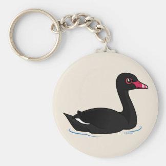 Cute Black Swan Keychain