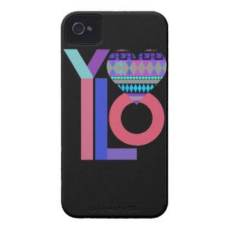 Cute Black Tribal YOLO  iPhone 4/4S Case