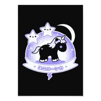 Cute Black Unicorn Baby Shower Invitations