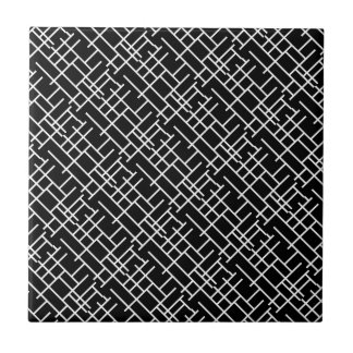 Cute black white abstract design tile