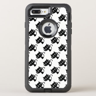Cute black white cats patterns OtterBox defender iPhone 8 plus/7 plus case
