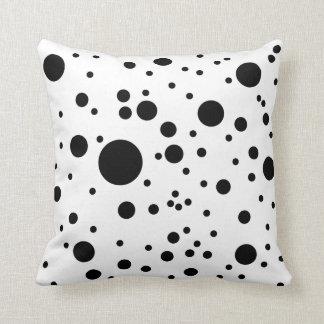 Cute Black & White Dalmatian Spots Throw Pillow