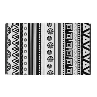 Cute black white decorative aztec texture iPad case