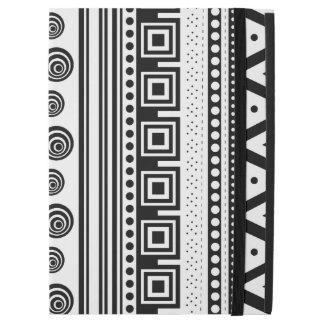 "Cute black white decorative aztec texture iPad pro 12.9"" case"