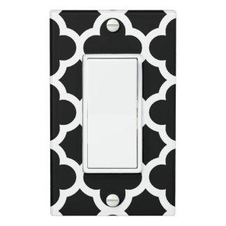 Cute Black White Retro Chic Trellis Pattern Light Switch Cover