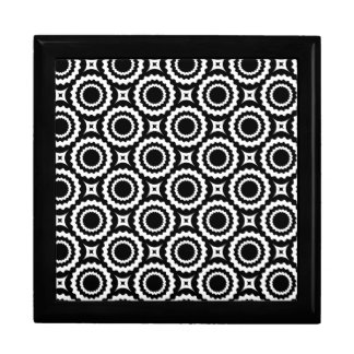 Cute black white zigzag circles design gift box