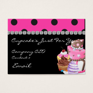 CUTE BLING Business Cards CUPCAKES