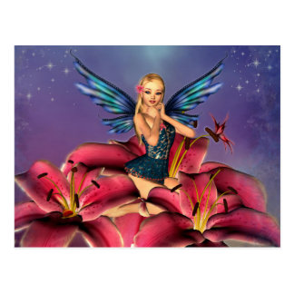 Cute blond Fairy Postcard