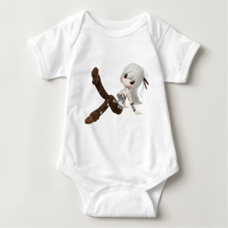 Cute Blond Girl Baby Bodysuit