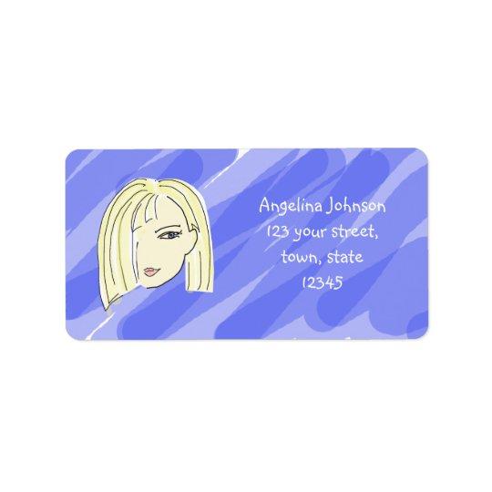 Cute Blonde Address Label