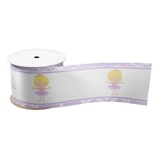 Cute Blonde Ballerina Gift Satin Ribbon