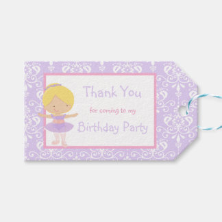 Cute Blonde Ballerina 'Thank You' Gift Tag