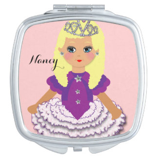 Cute Blonde Kids Pretty Princess Character Vanity Mirror