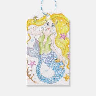 Cute Blonde Mermaid Gift Tags