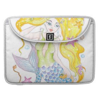 Cute Blonde Mermaid Sleeve For MacBooks