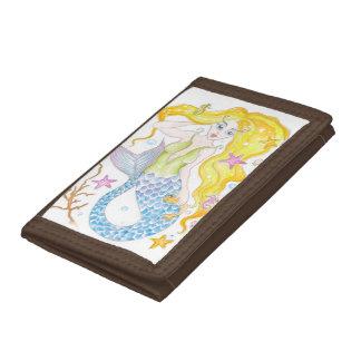 Cute Blonde Mermaid Tri-fold Wallet