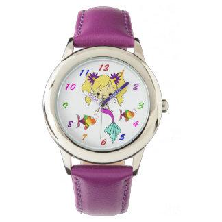 Cute Blonde Mermaid Watch