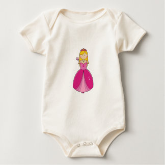 Cute Blonde Party Princess Baby Bodysuit