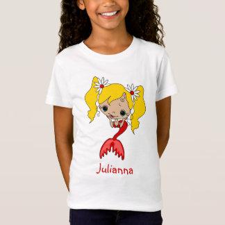 Cute Blonde Red Mermaid T-Shirt