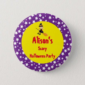 Cute Blonde Witch Halloween Party 2 Inch Round Button