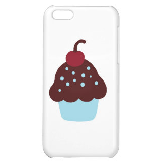 Cute Blue and Brown Birthday Cupcake Case For iPhone 5C