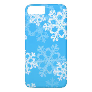 Cute blue and white Christmas snowflakes Case-Mate iPhone Case